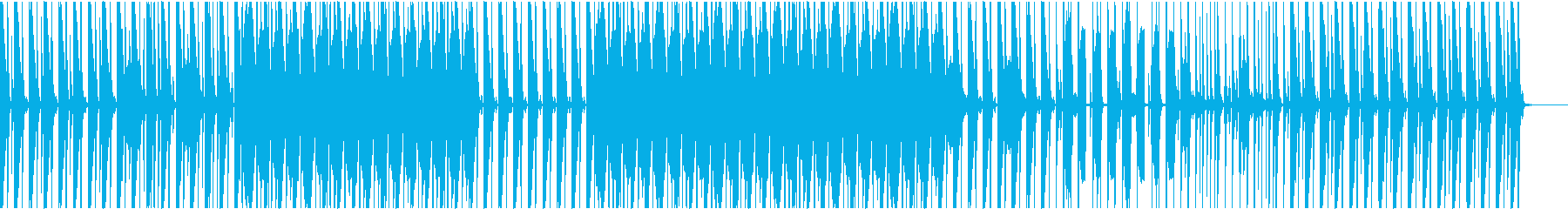 ハウス系リズムトラックの再生済みの波形