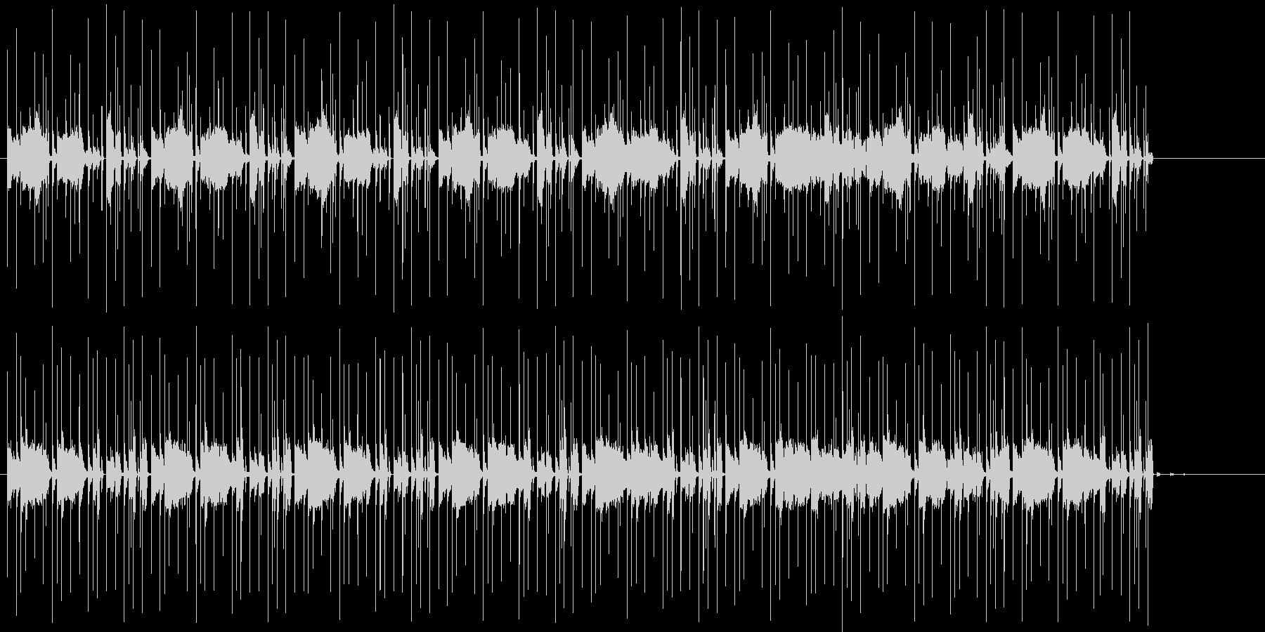 音が動きだすような不安定テクノの未再生の波形