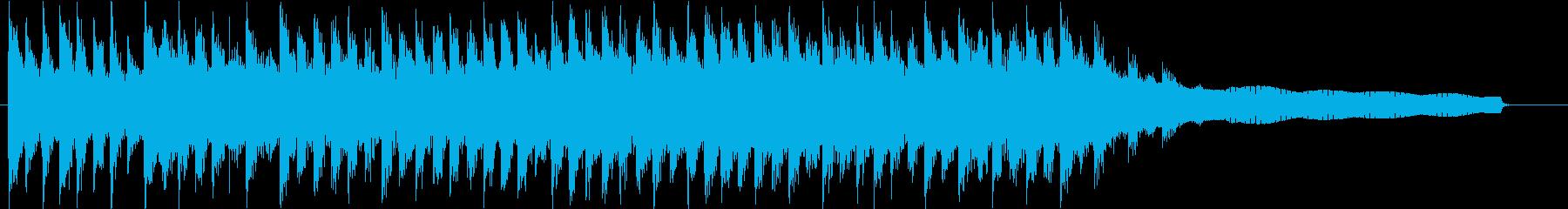 クリーンなインスピレーショナル系ジングルの再生済みの波形