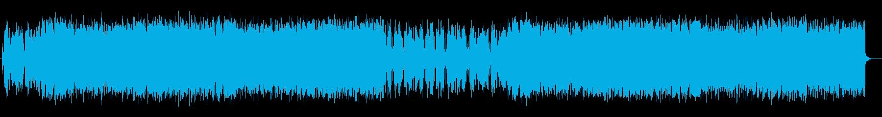 ファンタジー感のシンセが特徴のポップスの再生済みの波形
