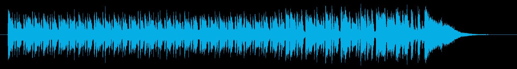 軽やかで緩やかなシンセポップジングルの再生済みの波形