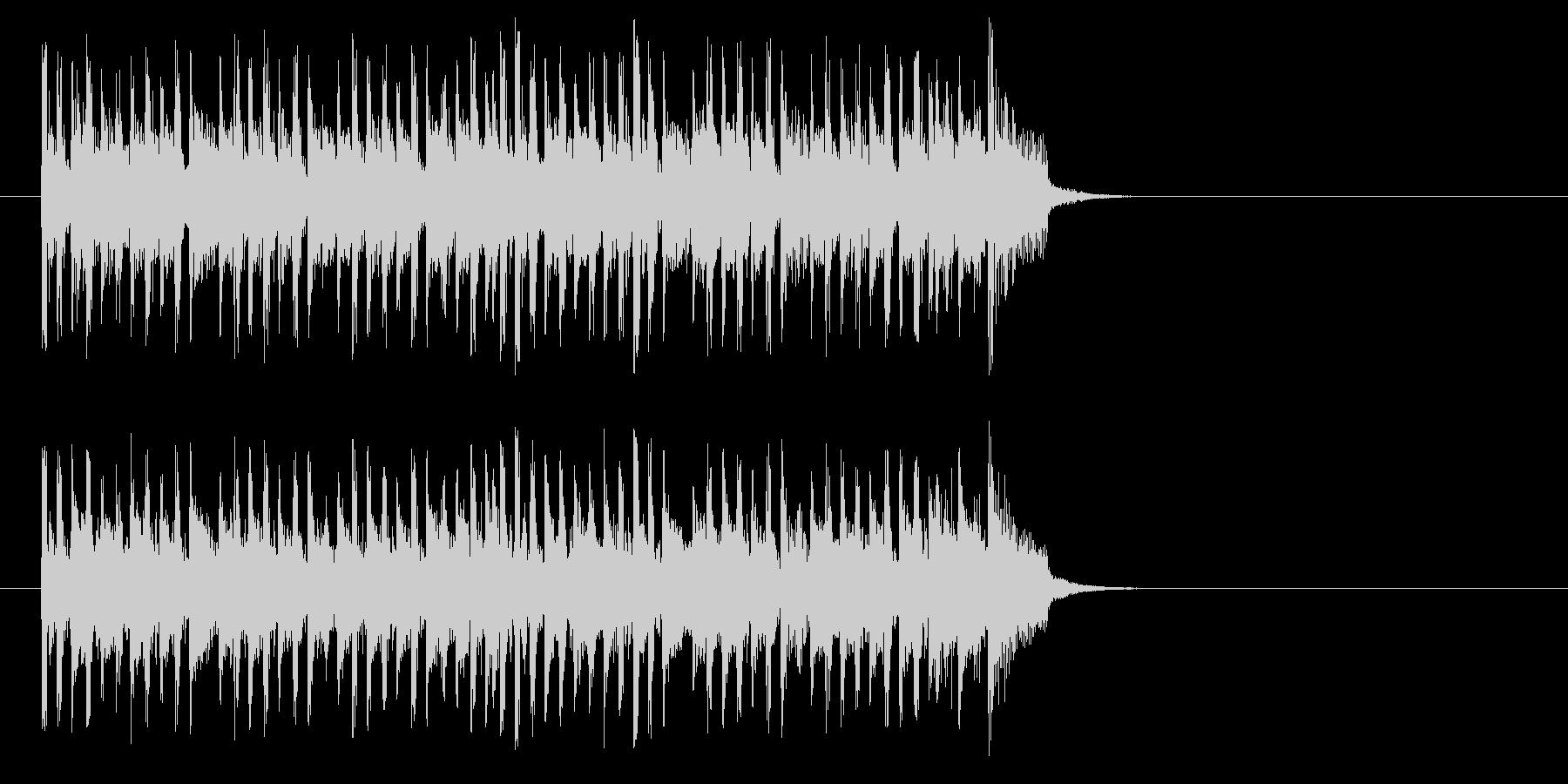 テンポの良いポップ(イントロ)の未再生の波形
