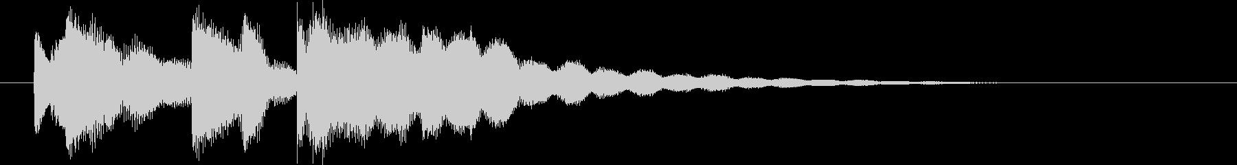 シンプルなサウンドロゴの未再生の波形