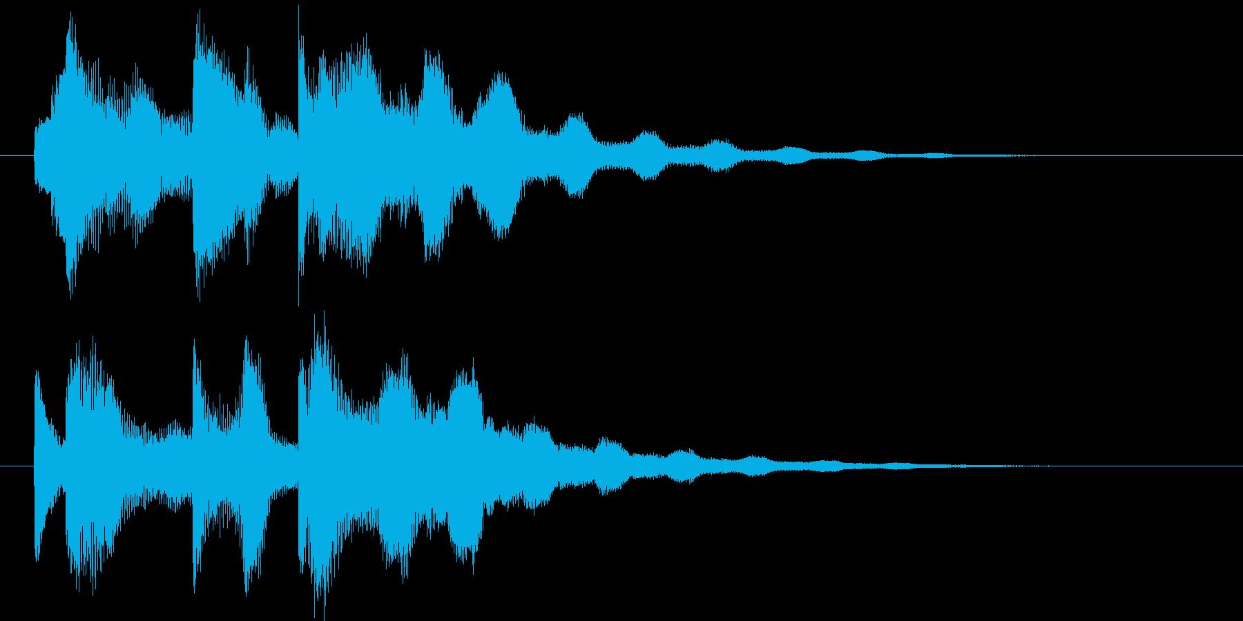 シンプルなサウンドロゴの再生済みの波形