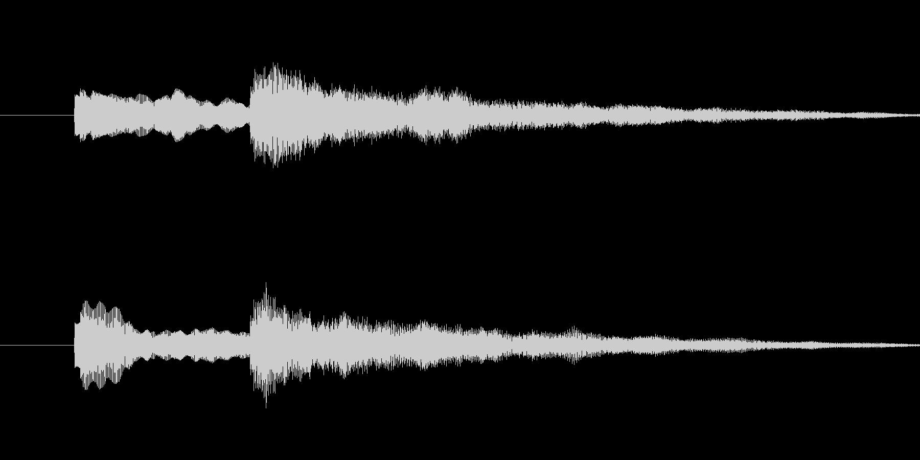 ティントーンの未再生の波形