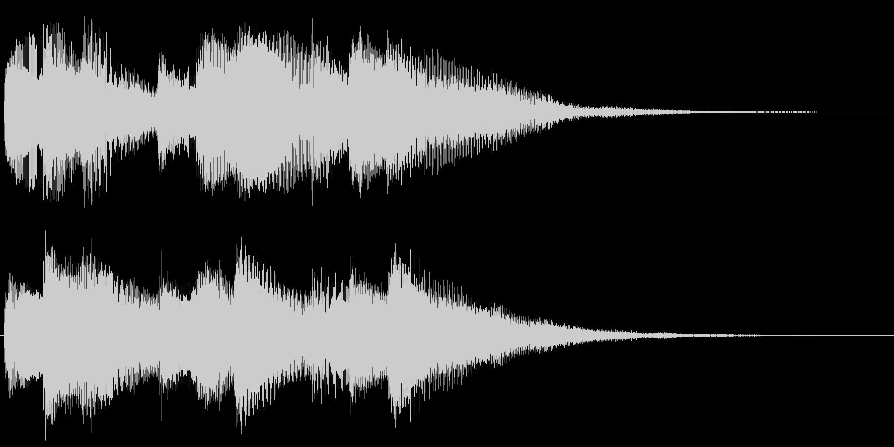 ハープシコードのアルペジオ 場面転換の未再生の波形