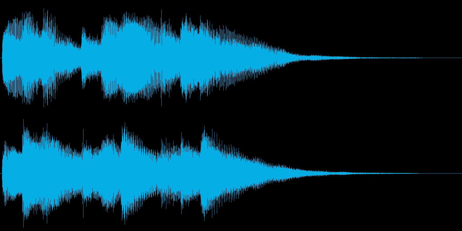 ハープシコードのアルペジオ 場面転換の再生済みの波形