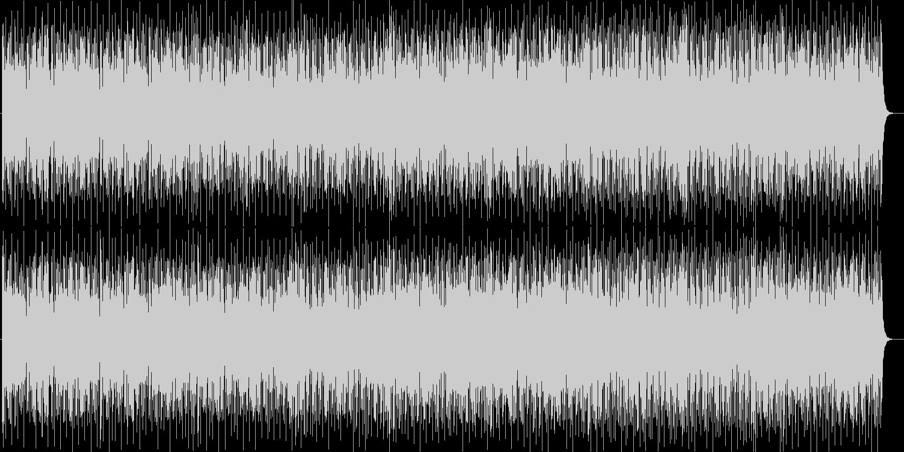 リズミカルなスローテンポのテクノポップの未再生の波形
