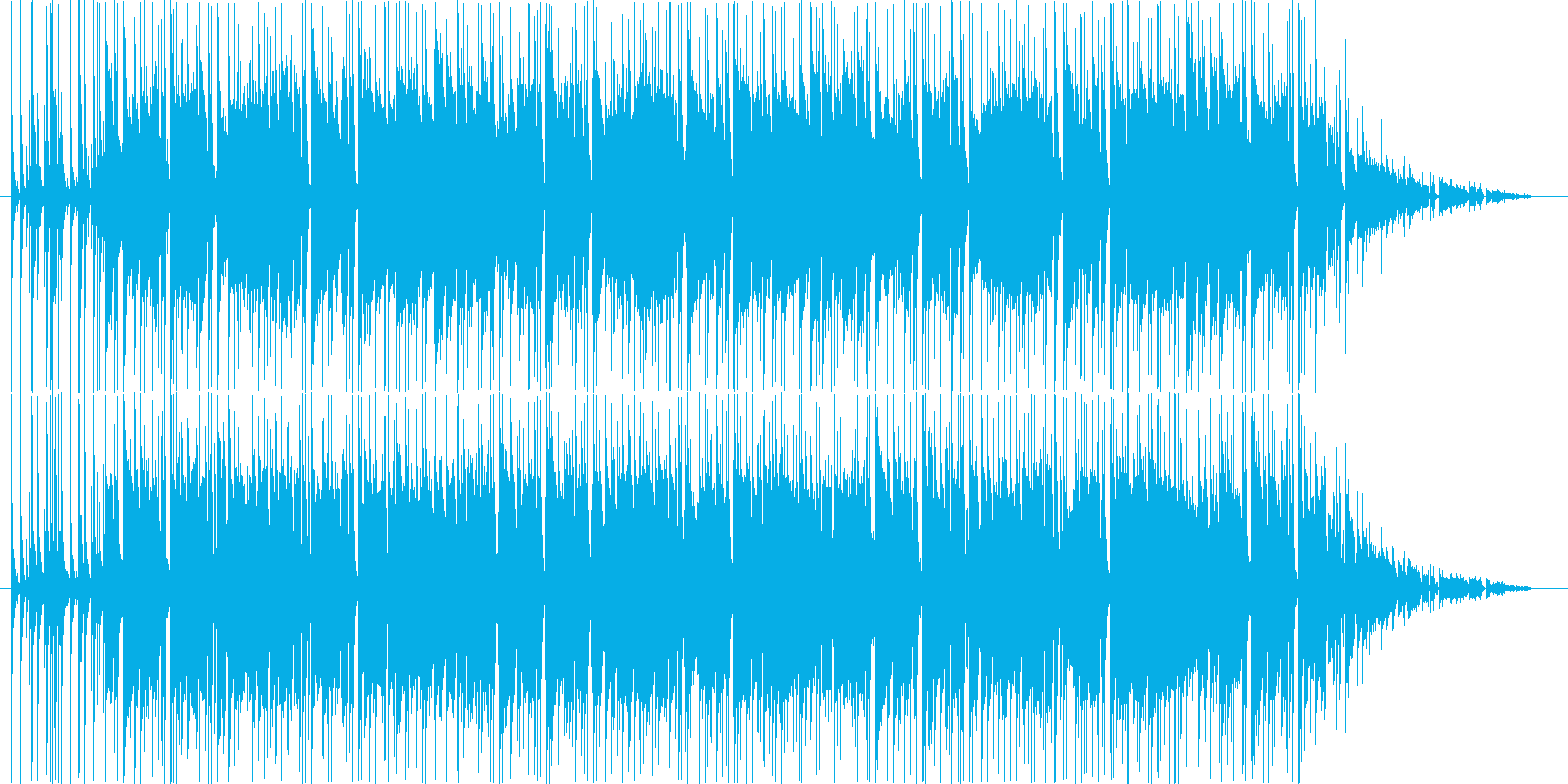 フュージョン系サウンドの再生済みの波形