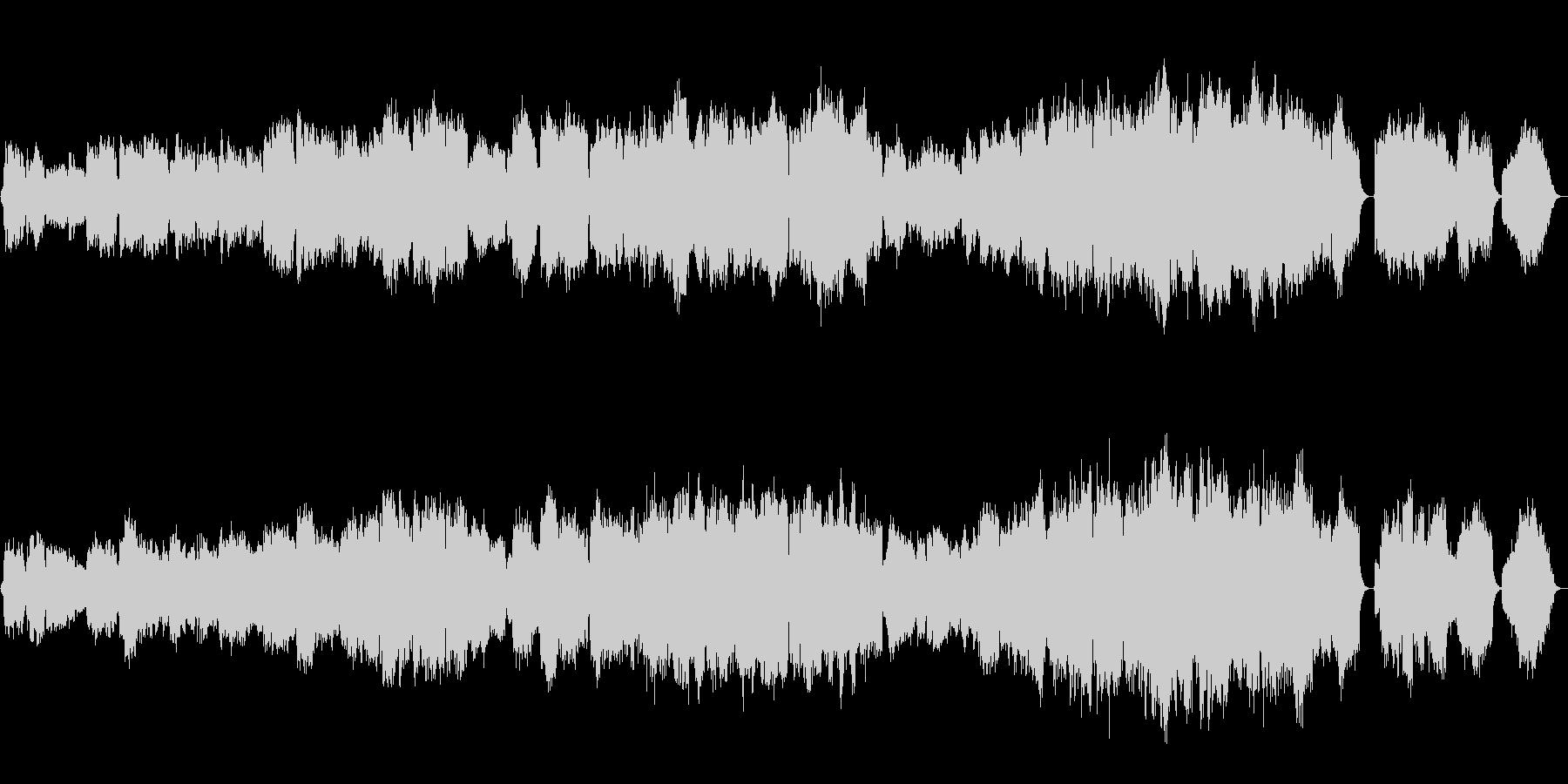 映像向けに合う、本格的なオーケストラ曲の未再生の波形