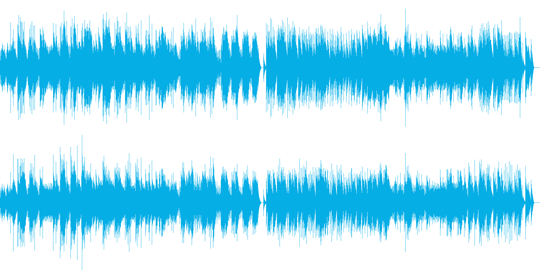 ドビュッシー 「夢」 (オルゴール)の再生済みの波形