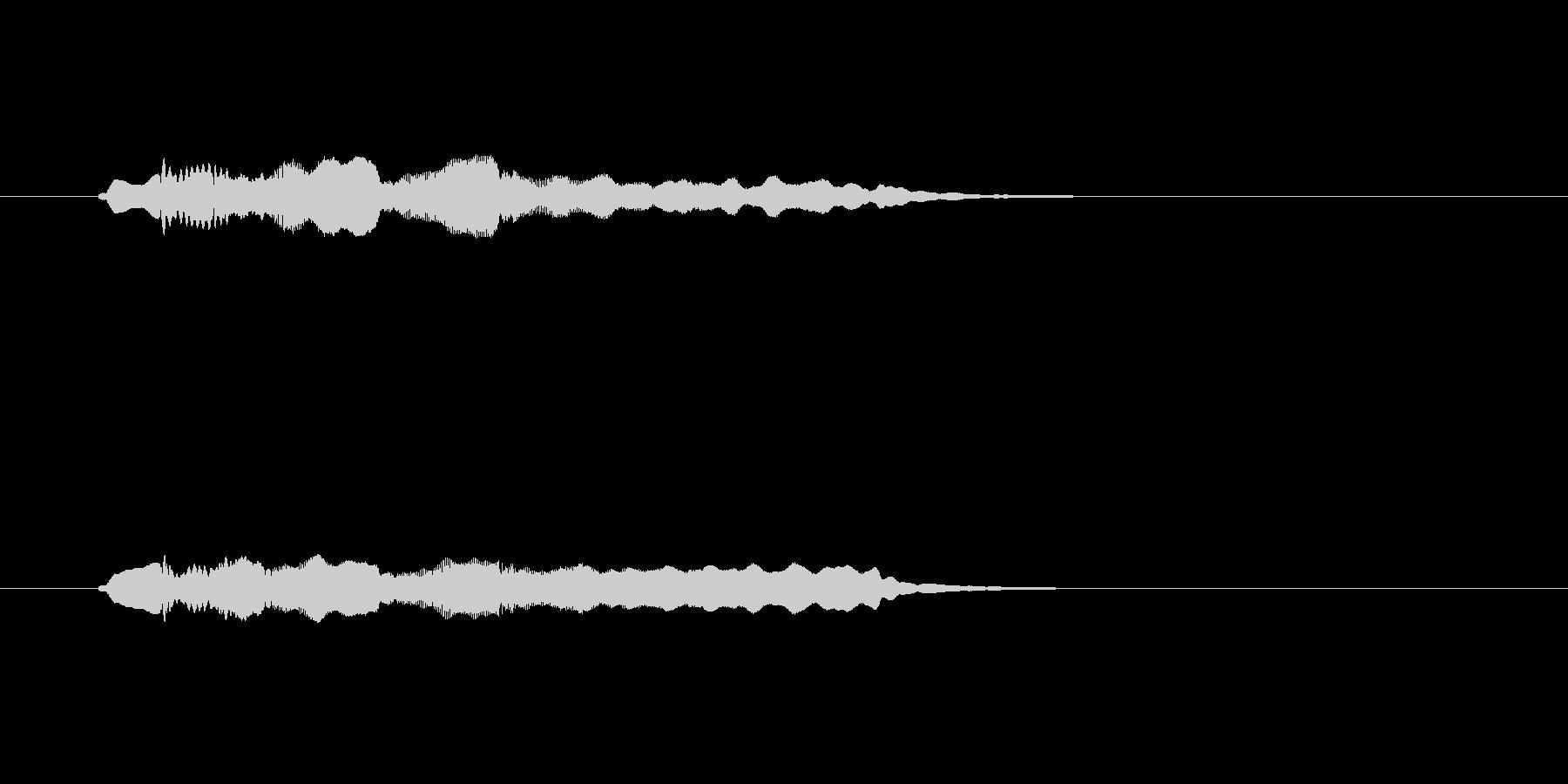 フルートの透明感のあるメロディーの未再生の波形