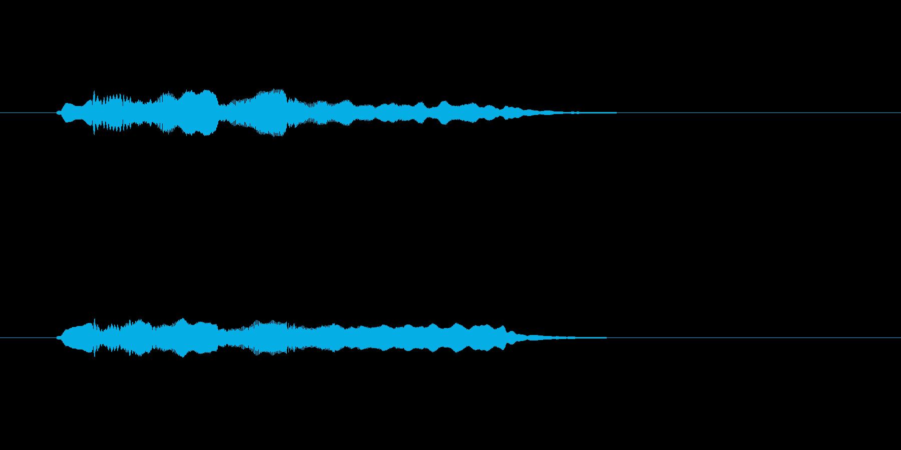フルートの透明感のあるメロディーの再生済みの波形