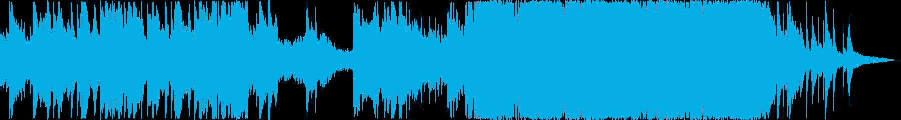 ワーグナー・ウエディングマーチ短編映像風の再生済みの波形
