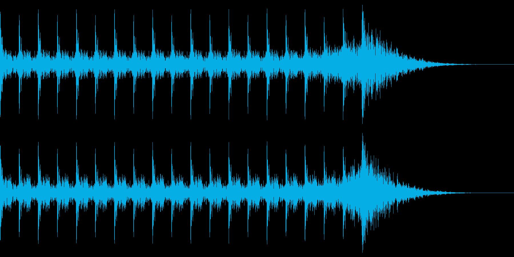 タイム20秒 ピ、ピ、ピ、ボン 爆弾の再生済みの波形