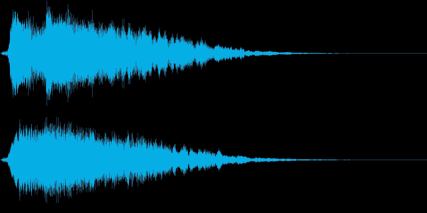 キラリン(明るい・テロップ表示・決定音)の再生済みの波形