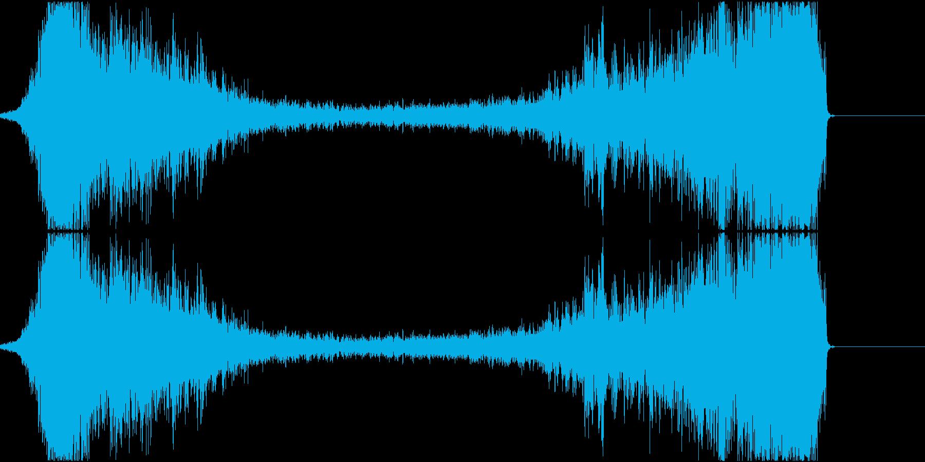 ヒュ~~(ワープ音)の再生済みの波形