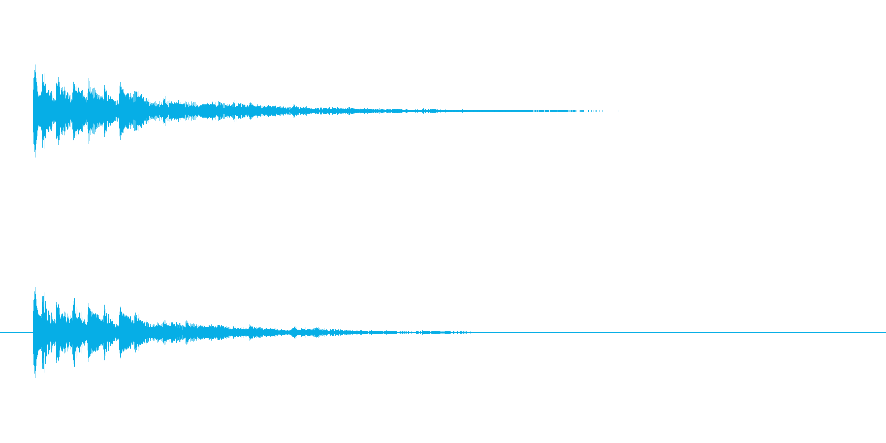 【ショートブリッジ14-2】の再生済みの波形