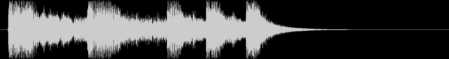 コミカルなジングル音の未再生の波形