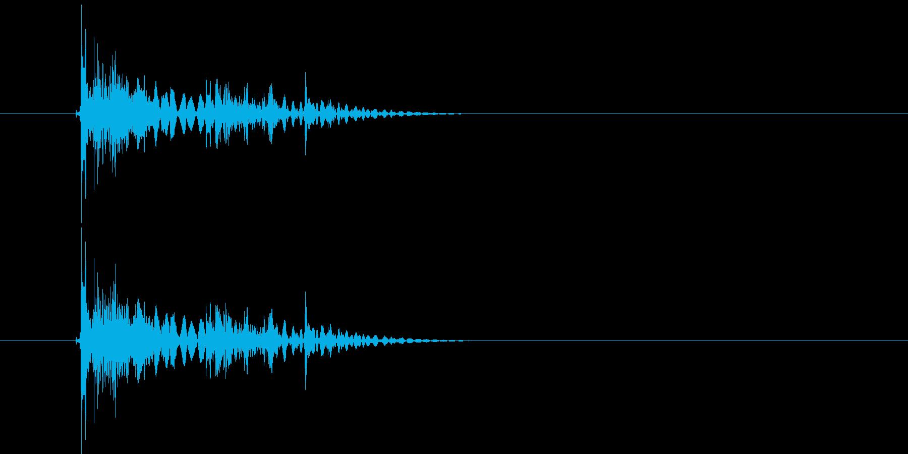 ガンガラガラ(岩が砕けるような効果音)の再生済みの波形
