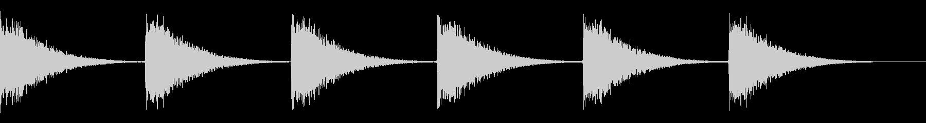 ボーンボーンボーン…(振り子時計)の未再生の波形