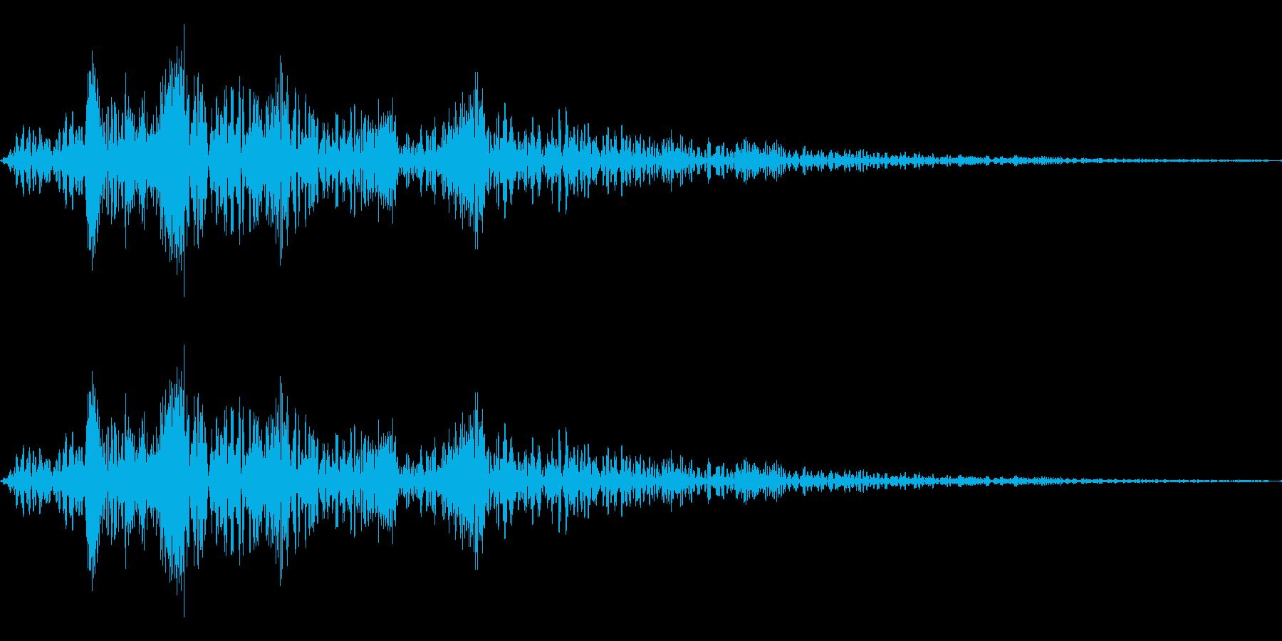 無機質な決定音の再生済みの波形