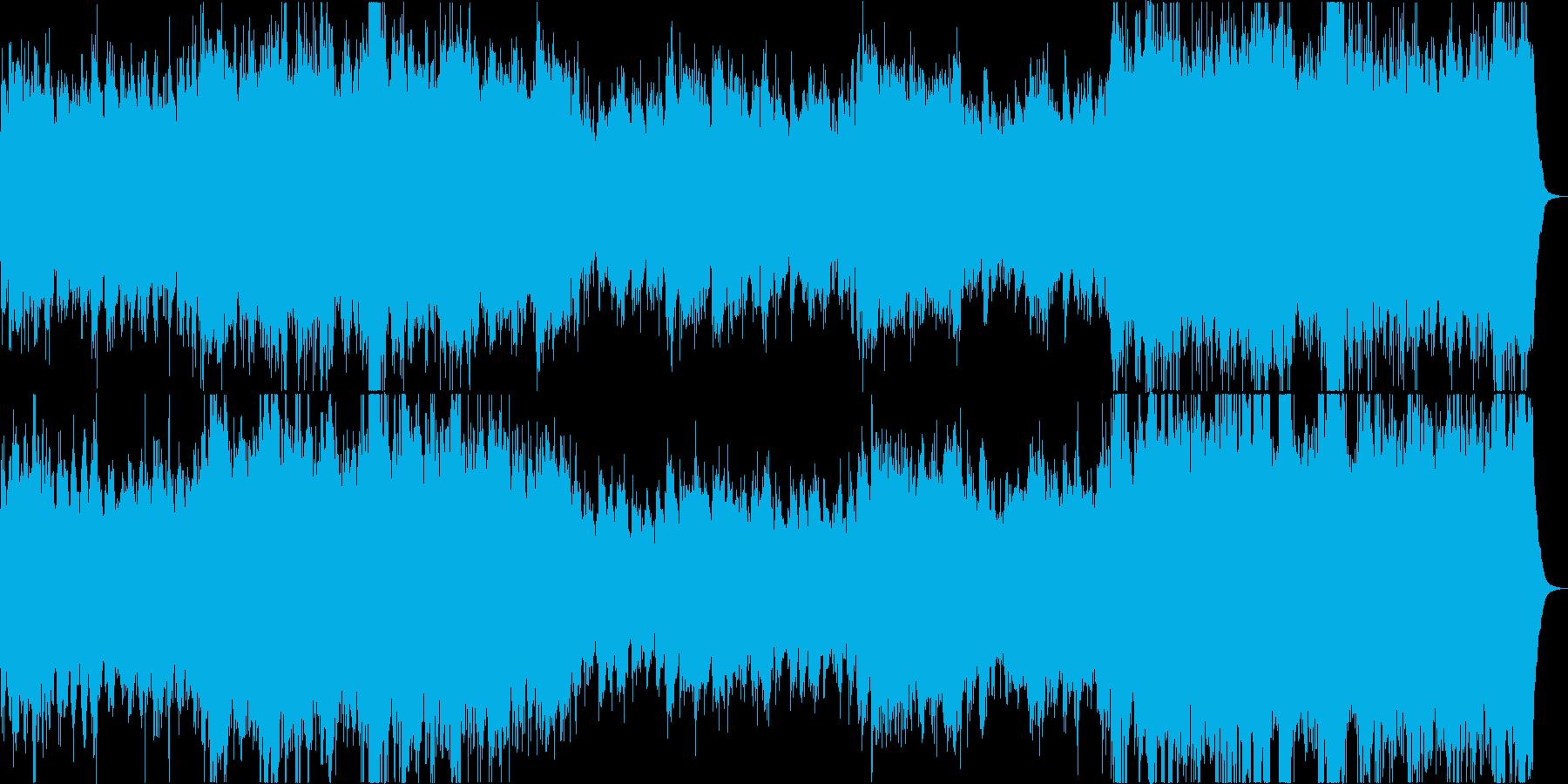 ファンタジー風の壮大なオーケストラ楽曲の再生済みの波形