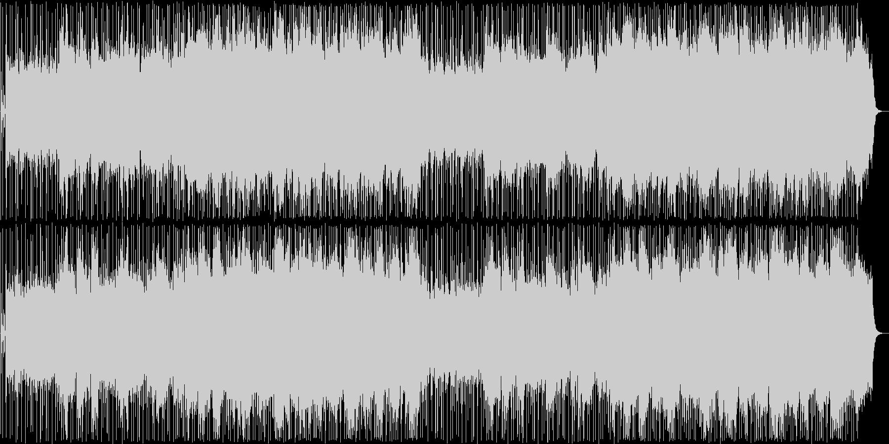 晴れやかなシンセサイザーサウンドの未再生の波形