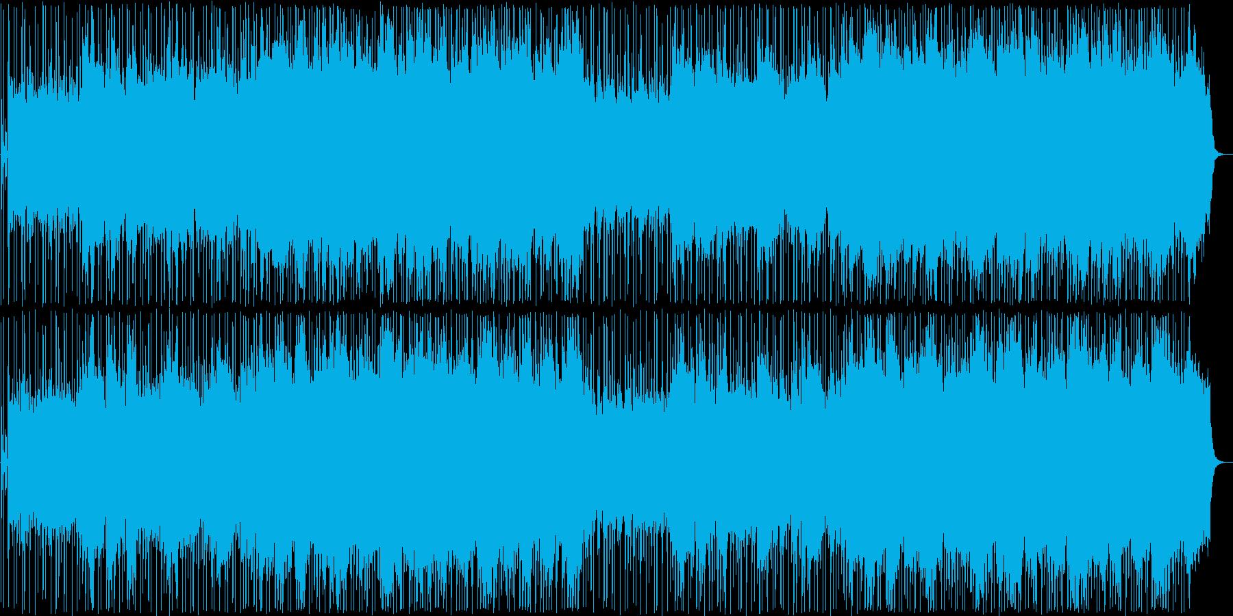 晴れやかなシンセサイザーサウンドの再生済みの波形