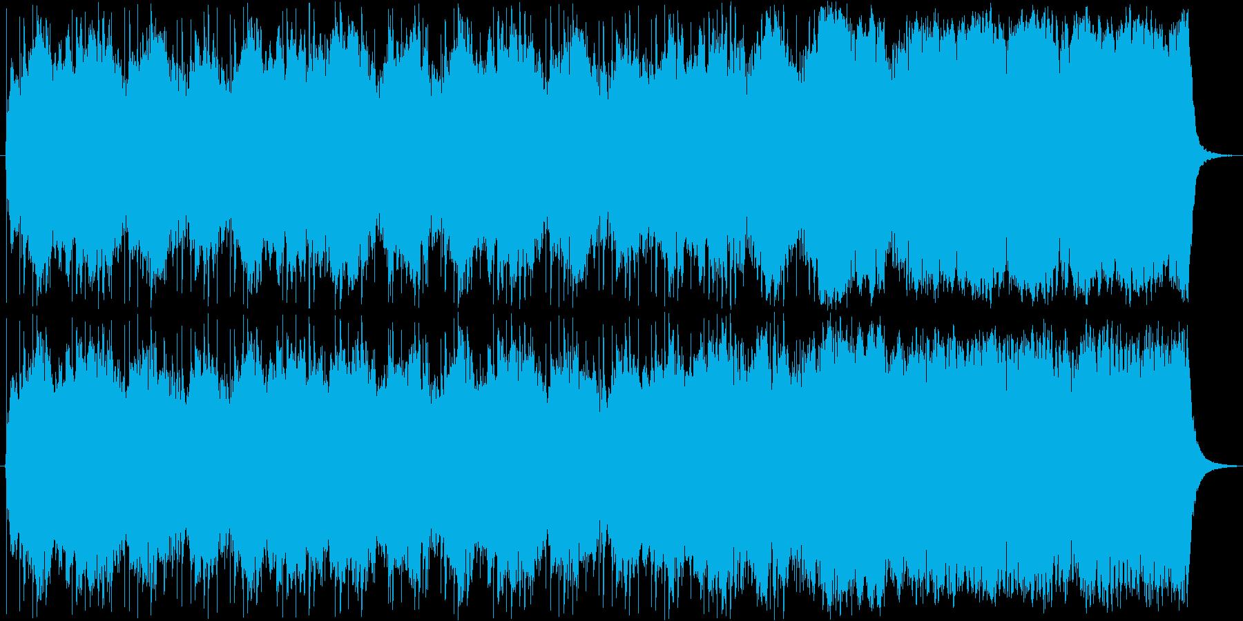 静かに力強いイメージのストリングスの再生済みの波形