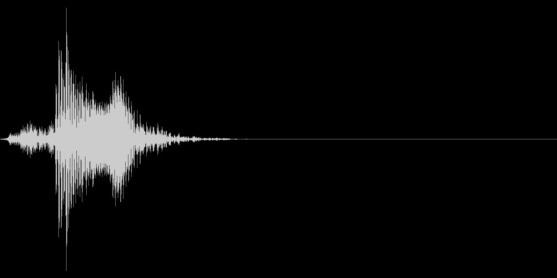 ゲーム掛け声男1ハッ5の未再生の波形