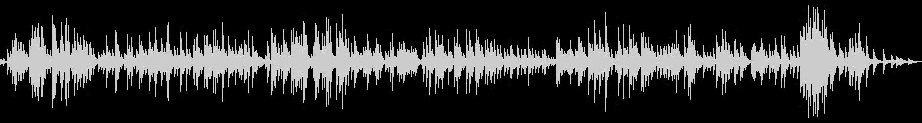 スローテンポで穏やかな癒し系のピアノ曲の未再生の波形