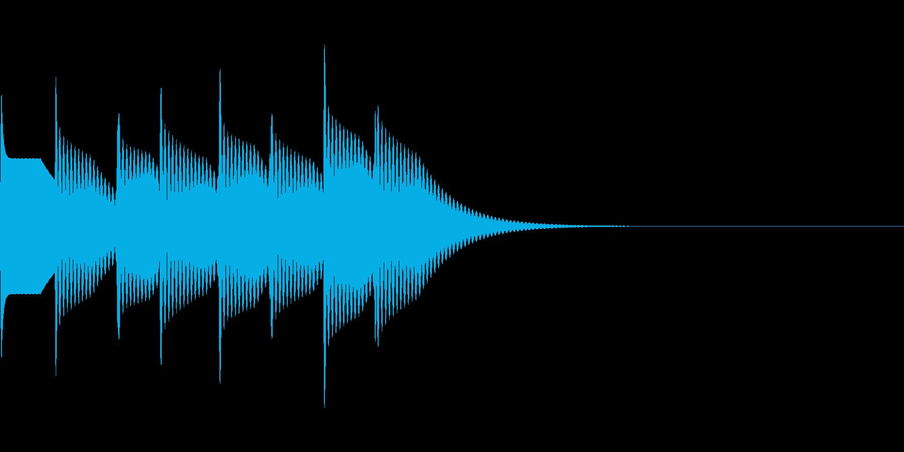 ピンポーン×4(大正解)の再生済みの波形