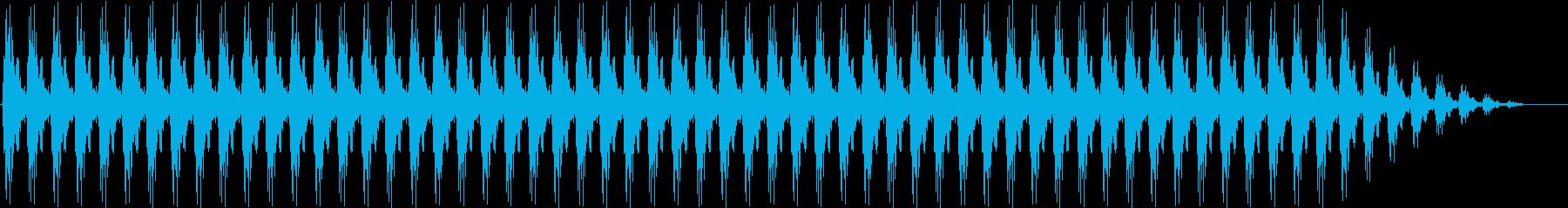 クリスマスの鈴(低め、テンポ速い)の再生済みの波形