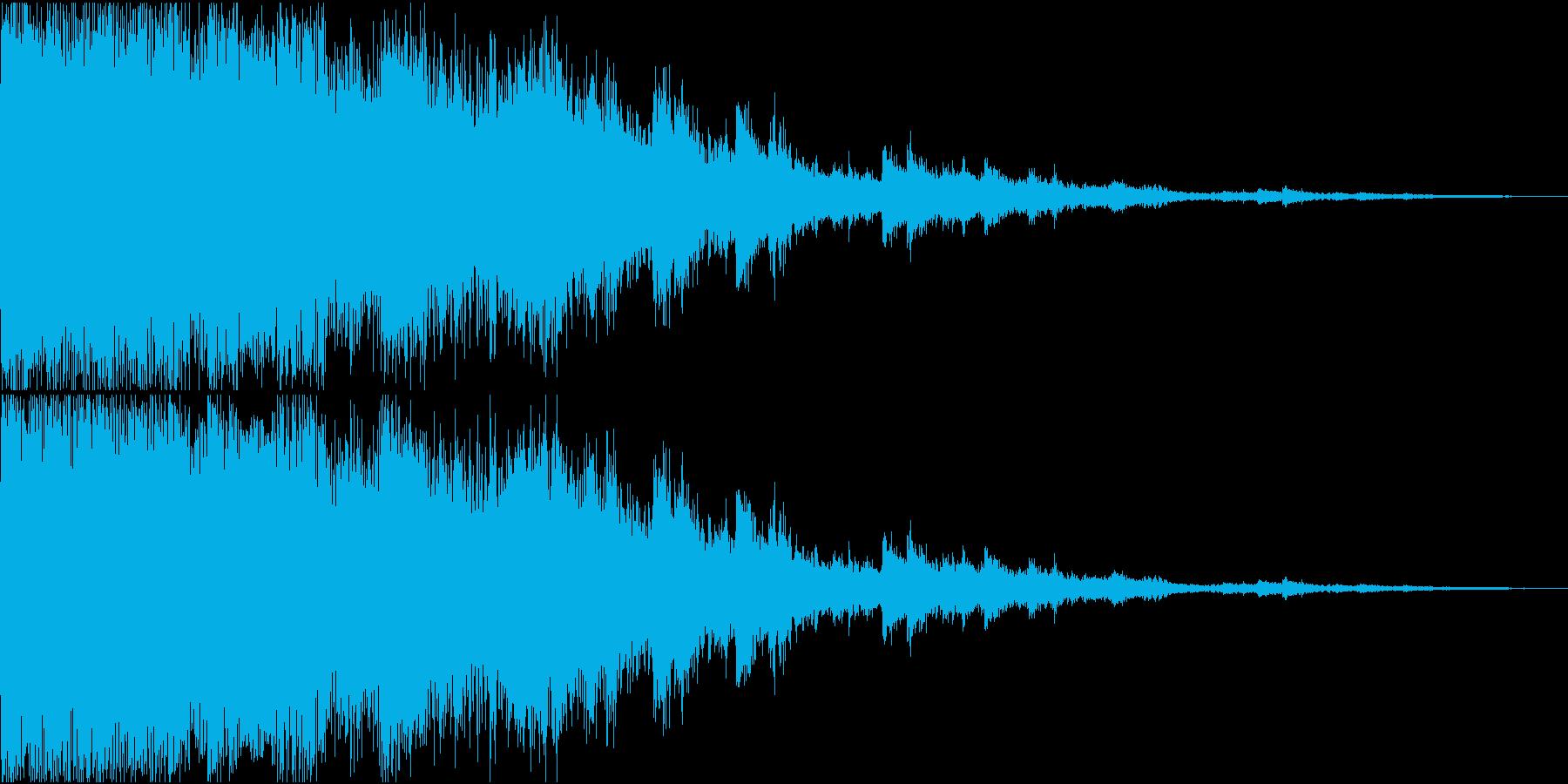 パリーン_耳に優しいガラスが飛び散る音の再生済みの波形