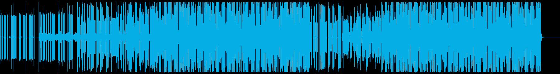 ゲーム的ポップチューン音楽の再生済みの波形