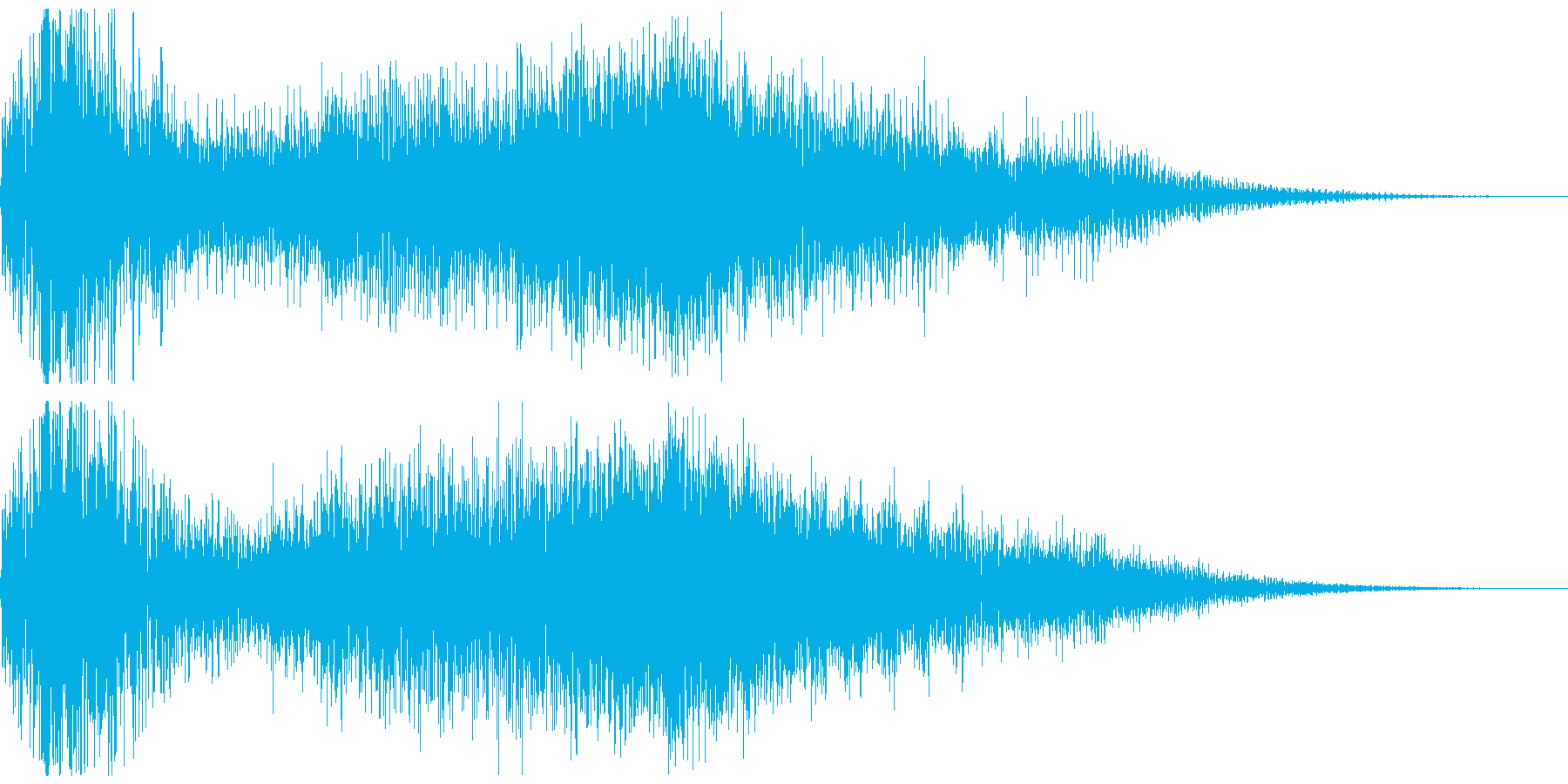 ジングル(不安、緊張)の再生済みの波形