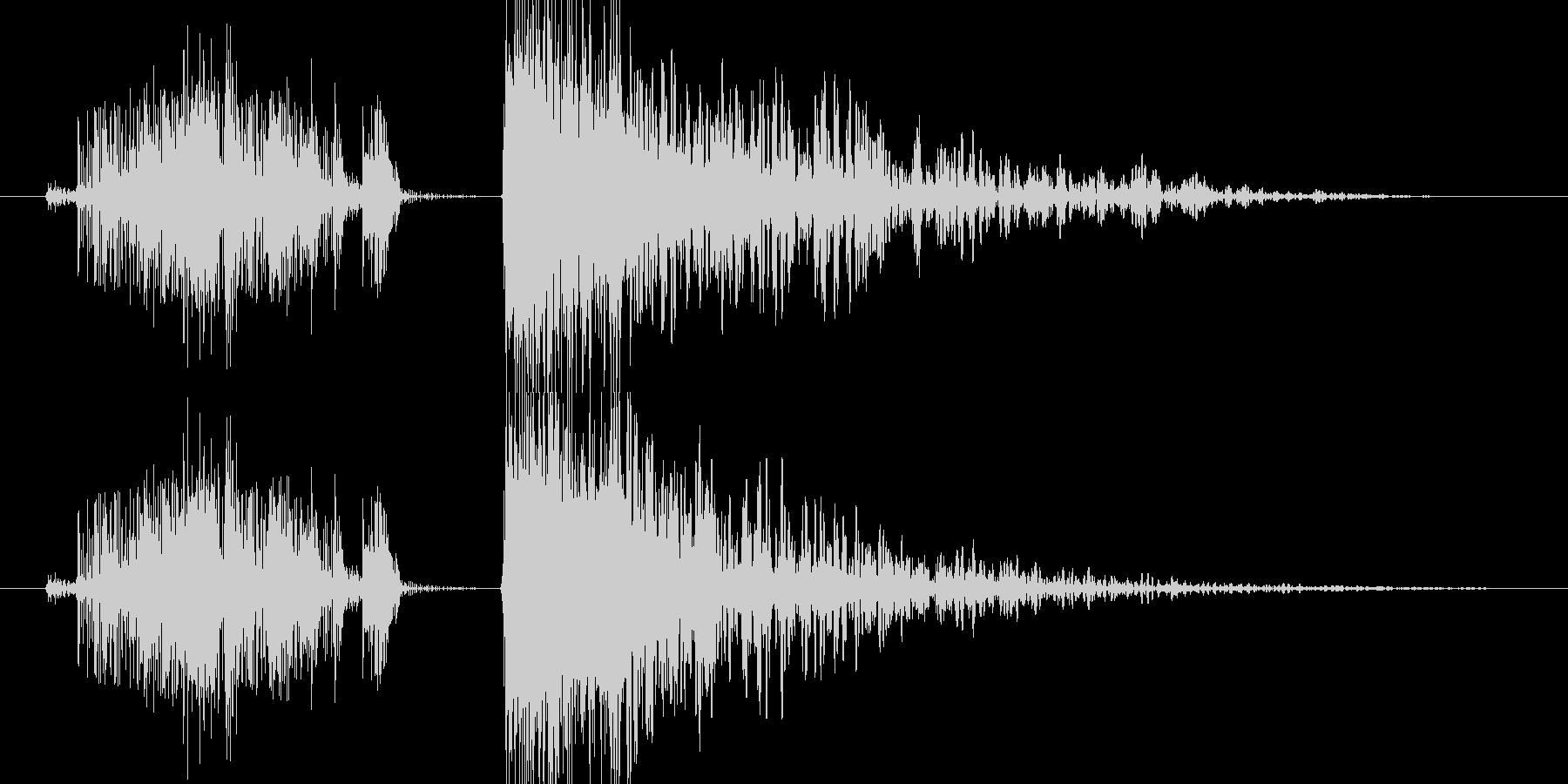 感電 爆発の未再生の波形