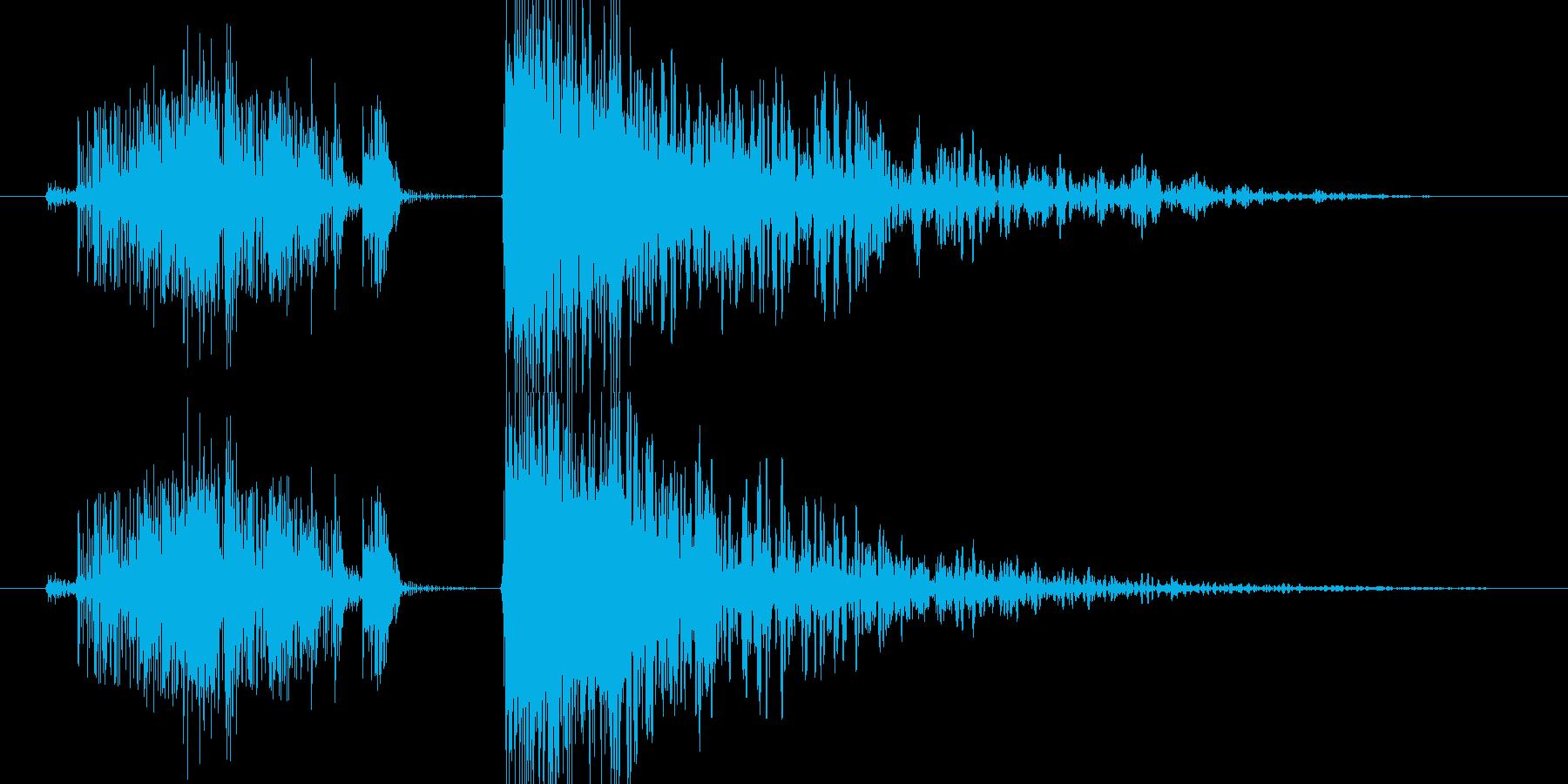 感電 爆発の再生済みの波形