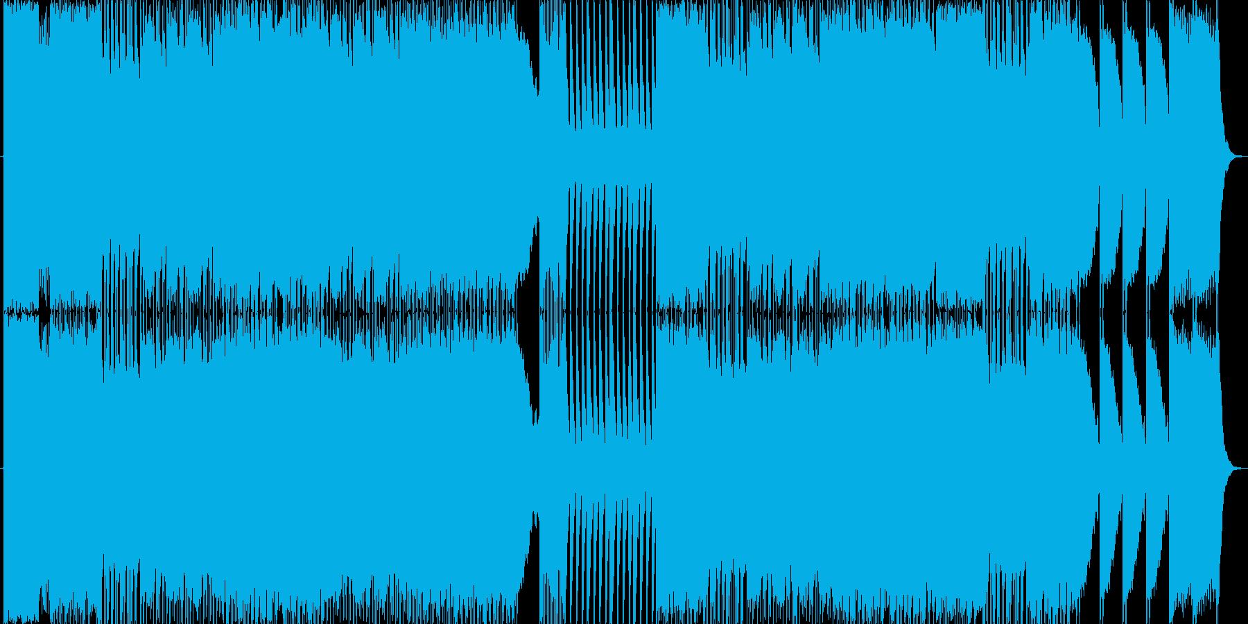 悪魔の囁きをイメージしたピアノ曲の再生済みの波形