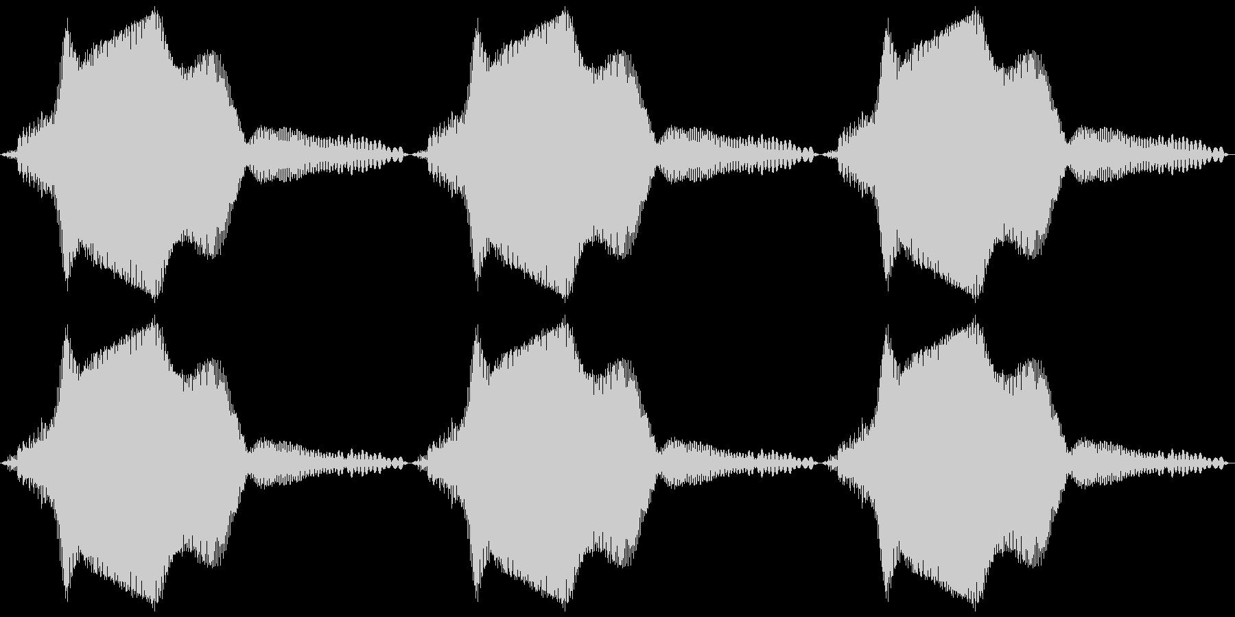 バイブ スマホ ブゥン×3の未再生の波形