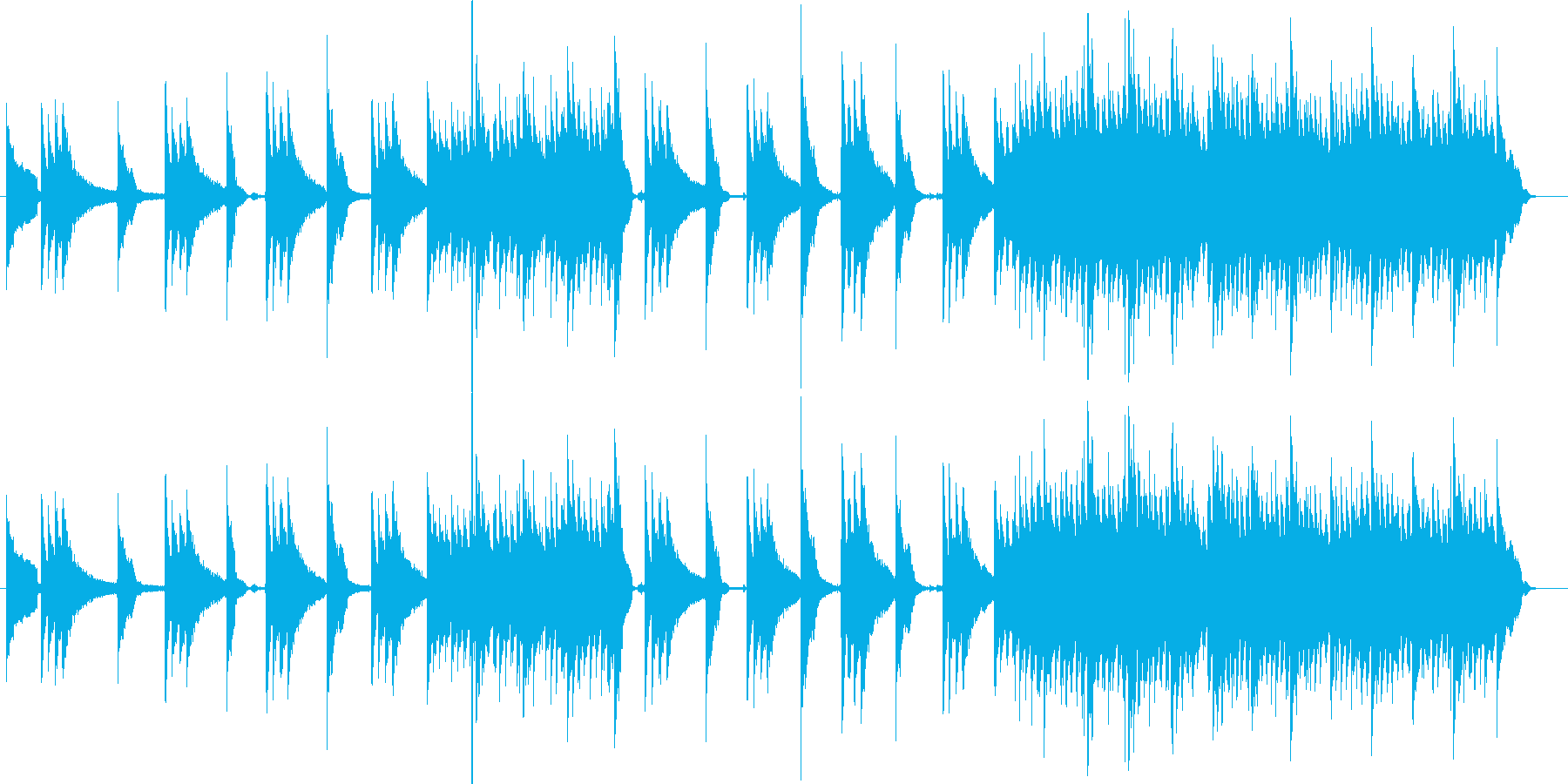 アコースティックギター不協和音 前衛演奏の再生済みの波形