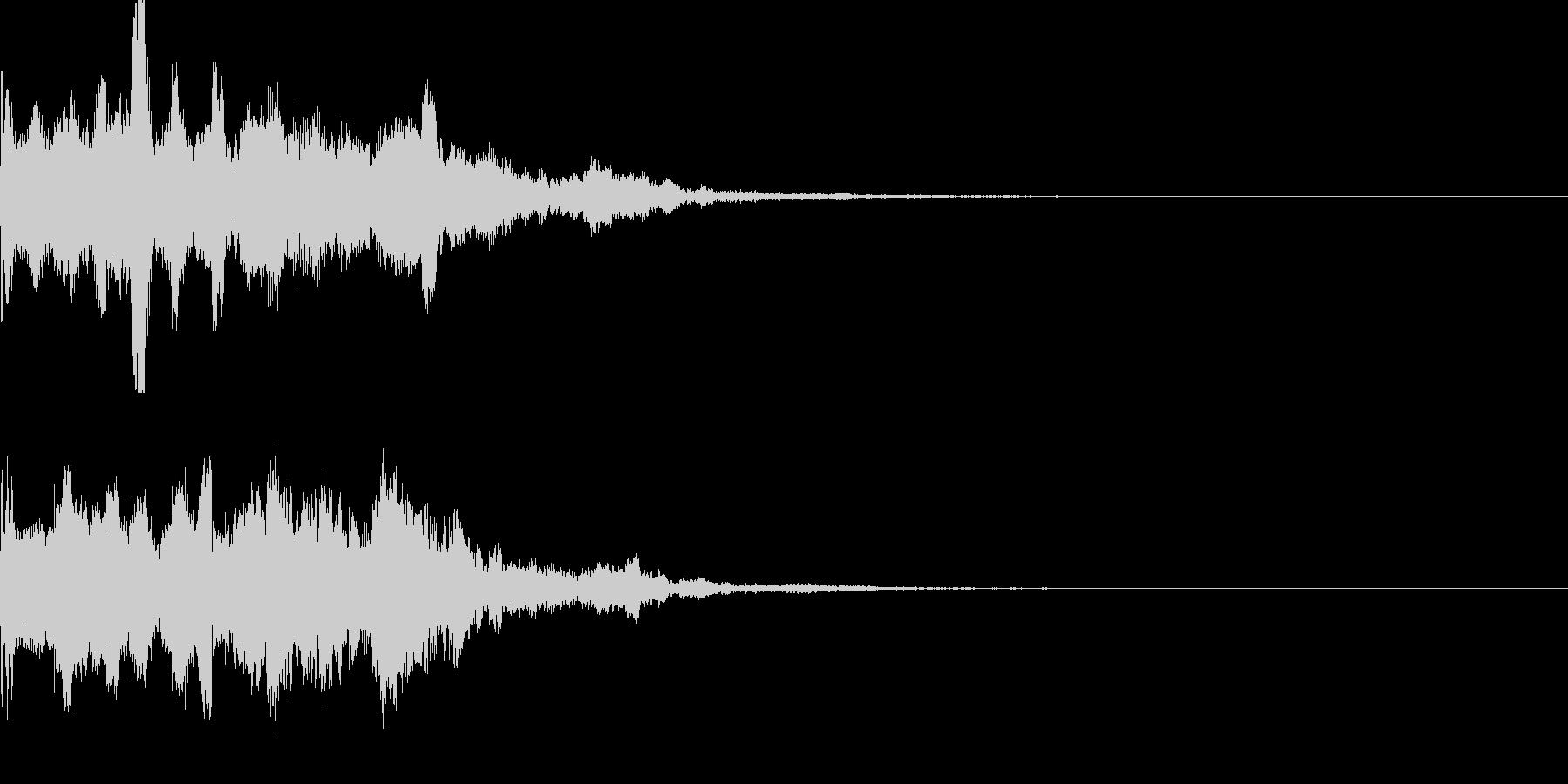 スタート音06の未再生の波形
