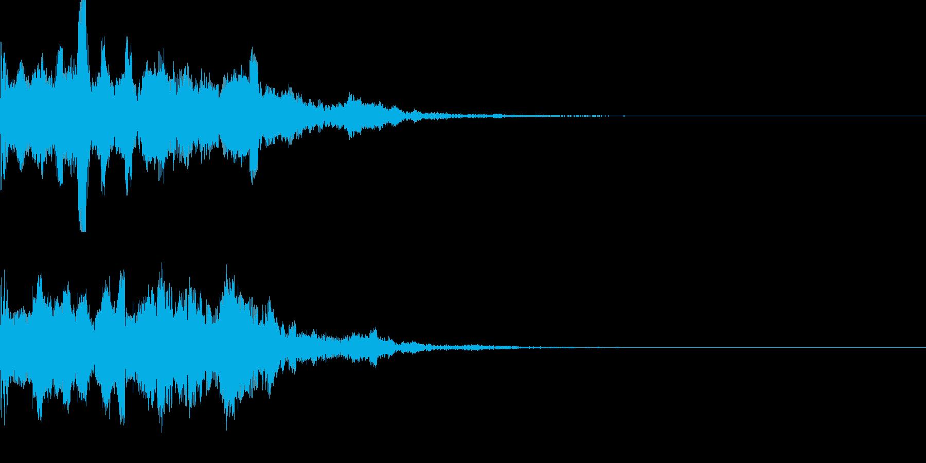 スタート音06の再生済みの波形