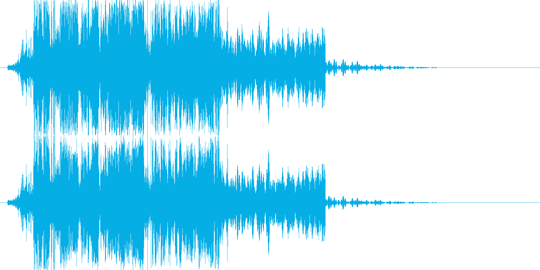 カチコチカチの再生済みの波形