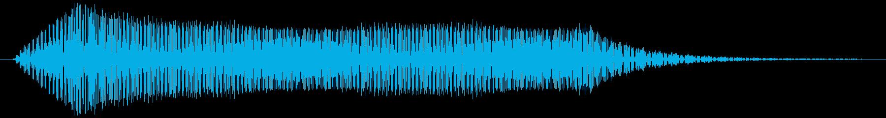 ギュォーン。ロボット・機械動作音(長め)の再生済みの波形