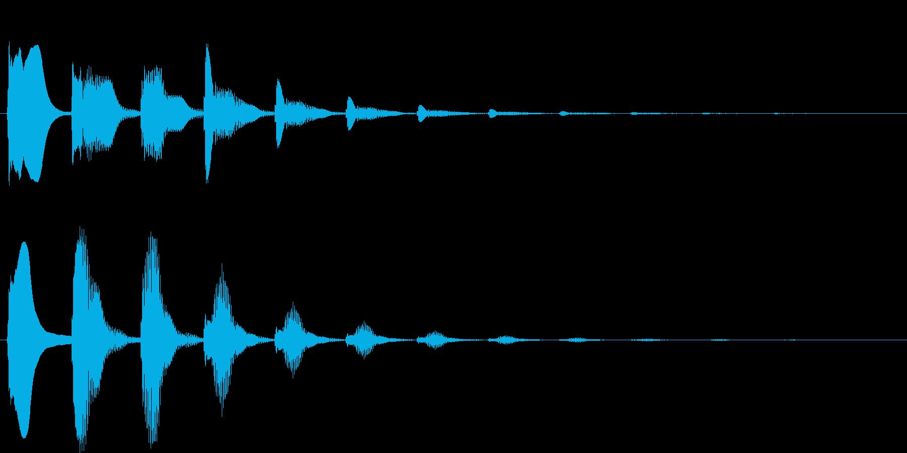 不思議な場面の再生済みの波形