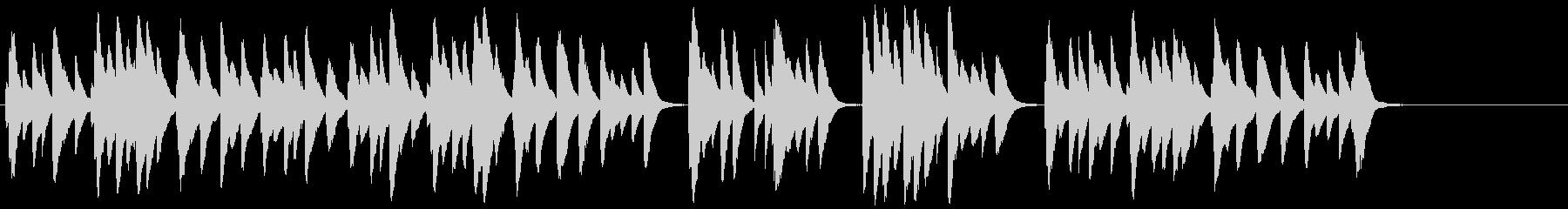 せつなくてノスタルジーなオルゴール音の未再生の波形