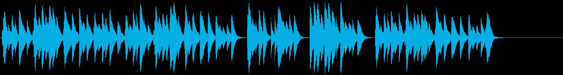 せつなくてノスタルジーなオルゴール音の再生済みの波形