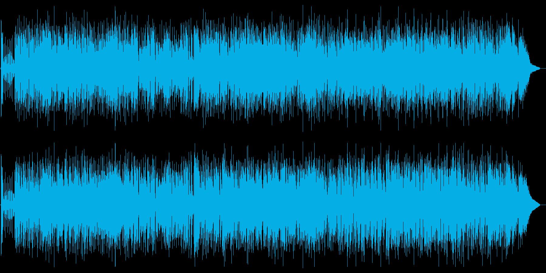 アコースティックで明るく爽やかな曲の再生済みの波形